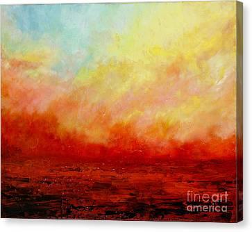 Crimson Canvas Print by Teresa Wegrzyn