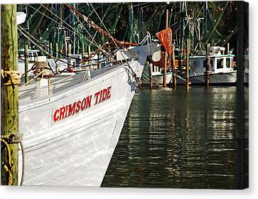 Crimson Tide Bow Canvas Print by Michael Thomas