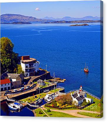 Crinan Harbour Scotland Canvas Print