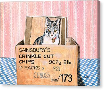 Cardboard Canvas Print - Crinkle Cut Chips by Ditz