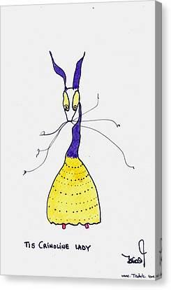 Crinoline Lady Canvas Print by Tis Art