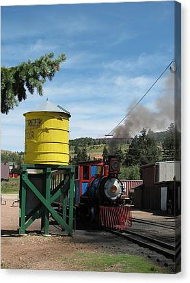 Cripple Creek Train Canvas Print by Steven Parker
