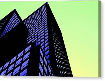 crisp angles NY city Canvas Print by Terry Horstman