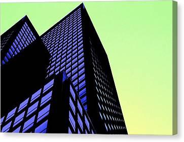 crisp angles NY city Canvas Print by Terry Horstman