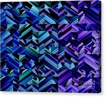 Criss Cross Blues Canvas Print