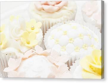 Criss-cross Cupcake Canvas Print by Anne Gilbert