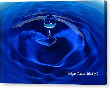 Cristal Blue Persuasion Canvas Print