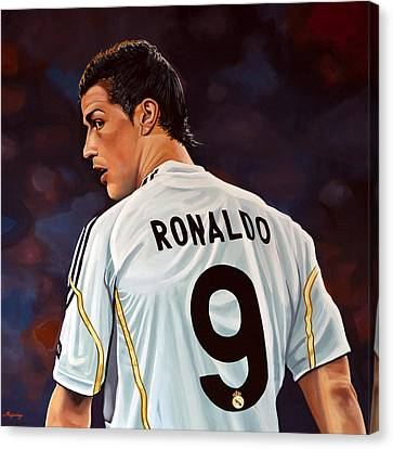 Player Canvas Print - Cristiano Ronaldo by Paul Meijering