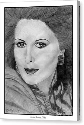 Cristina Ferrare In 1981 Canvas Print by J McCombie
