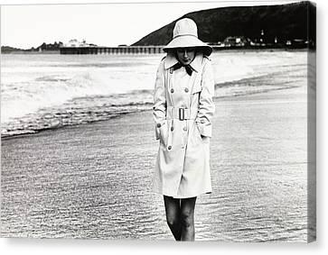 Cristina Ferrare Wearing A Misty Harbor Raincoat Canvas Print