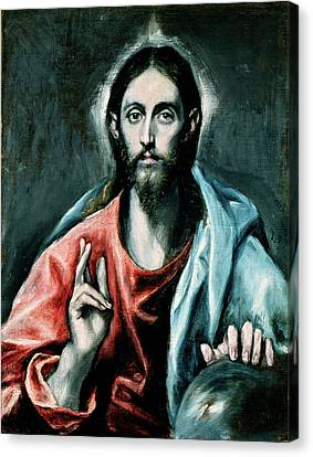 Cristo Salvator Mundi Canvas Print by El Greco