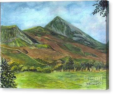 Croagh Saint Patricks Mountain In Ireland  Canvas Print