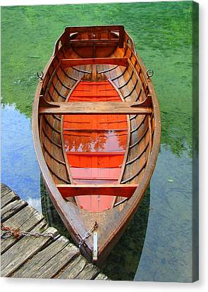 Canvas Print featuring the photograph Croatian Rowboat by Ramona Johnston