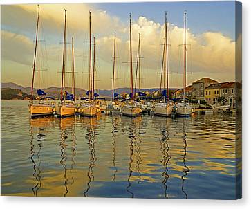 Croatian Sailboats Canvas Print