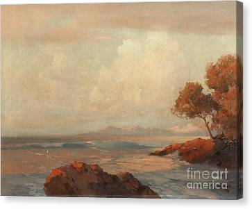 Croatian Sea Canvas Print by Celestial Images