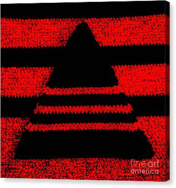 Crochet Pyramid Digitally Manipulated Canvas Print by Kerstin Ivarsson