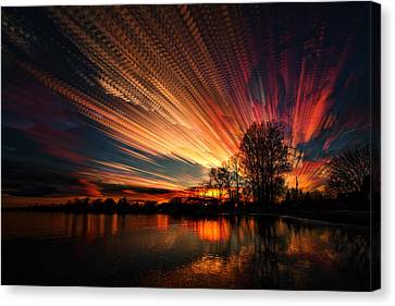 Crocheting The Clouds Canvas Print by Matt Molloy