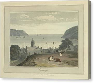 Cromarty Town And Harbour Canvas Print by British Library