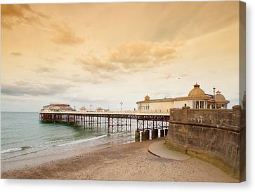 Cromer Pier Canvas Print by Shirley Mitchell