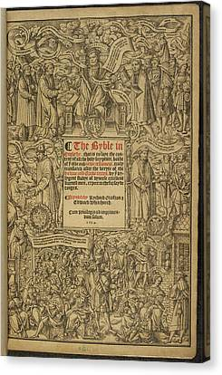 Cromwell's Bible Canvas Print