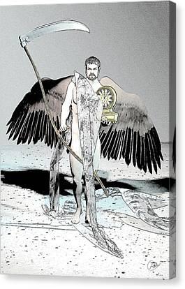 Cronus Myth Canvas Print by Quim Abella