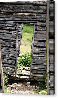 Crooked Door Canvas Print by Ty Helbach