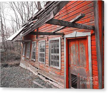 Crooked House Canvas Print by Sharon Costa