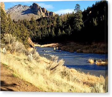 Sunriver Canvas Print - Crooked River December Morning by Nancy Merkle