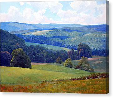 Crooked Run Valley Canvas Print by Armand Cabrera