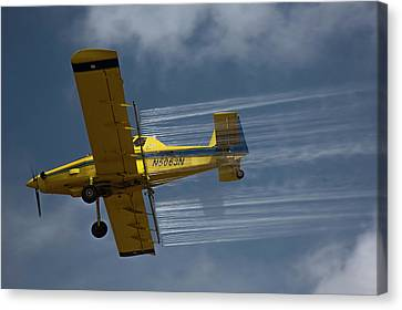 Crop Duster Spraying Pesticides Canvas Print