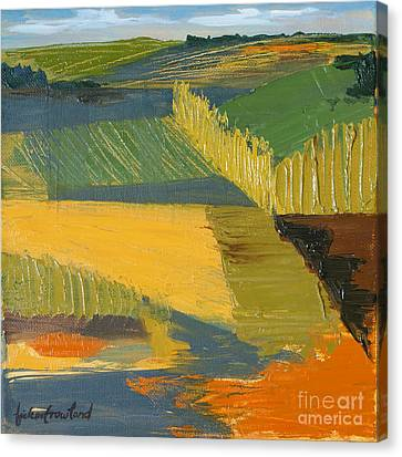 Canvas Print featuring the painting Crop Fields by Erin Fickert-Rowland