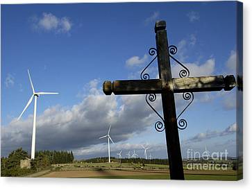 Ally Canvas Print - Cros And Winturbine by Bernard Jaubert
