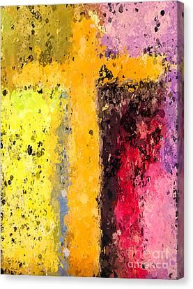 Cross Abstract Iv  Canvas Print by Heidi Smith