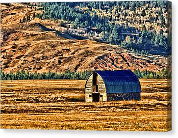 Cross Country Deserted Canvas Print by Rebecca Adams