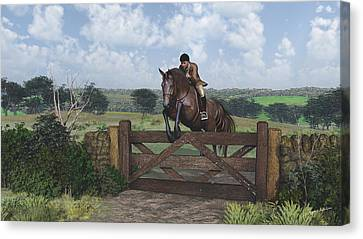 Cross Country Canvas Print