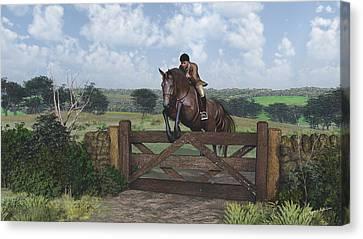 Cross Country Canvas Print by Jayne Wilson
