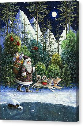 Cross-country Santa Canvas Print