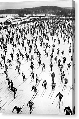 Cross Country Ski Race Canvas Print by Underwood Archives