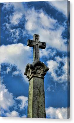 Canvas Print featuring the photograph Cross Face 3 by Lesa Fine