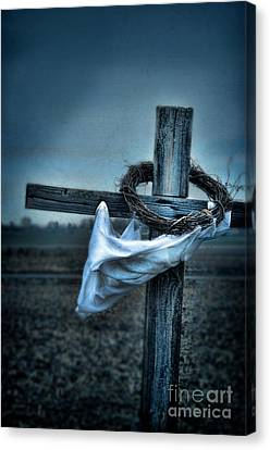 Cross In A Field Canvas Print by Jill Battaglia