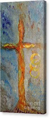 Cross Of Endless Love Canvas Print by Ella Kaye Dickey