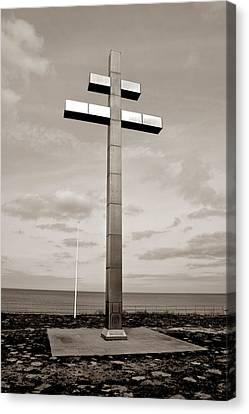 Historic Battle Site Canvas Print - Cross Of Lorraine by Olivier Le Queinec