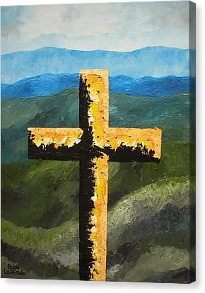 Cross Of The Mountain Ridges Canvas Print by Ralph Loffredo