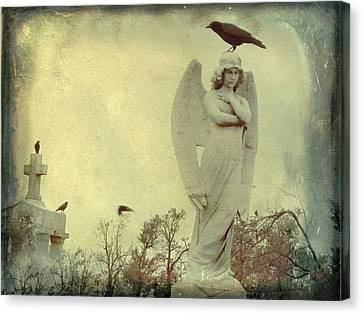 Cross Or Angel Canvas Print by Gothicrow Images