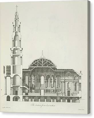 Cross Section Of A Building Canvas Print by British Library