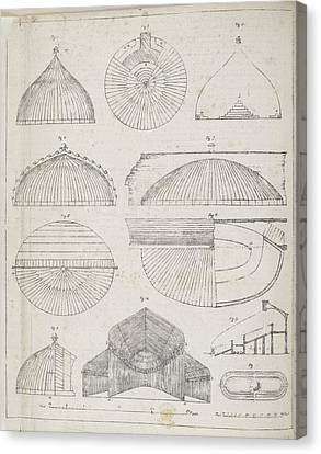 Cross Sections Of Greenhouses Canvas Print by British Library
