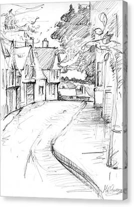 Cross Street Sudbury Canvas Print