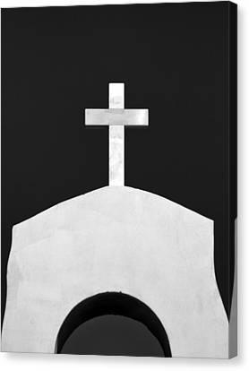 Cross Canvas Print by Stelios Kleanthous