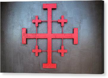 Cross Symbol On The Wall Of St. John Canvas Print