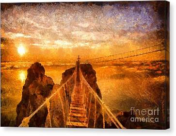Cross That Bridge Canvas Print